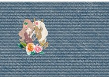 French Terry In Love Panel blau